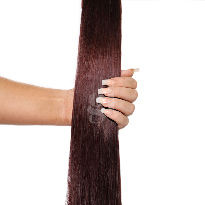 #98J Mahogany – 18″ – 60g – 24pcs – Athena Tape Hair