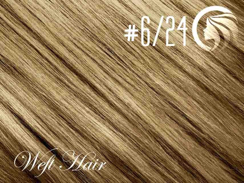 #6/24 Brown/Golden Blonde – 18″ – 120 gram – Athena Weft