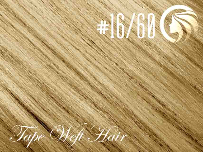 #16/60 Ash Blonde/Blonde – 18″ – 60 gram – 24 Pieces – Athena Tape Weft