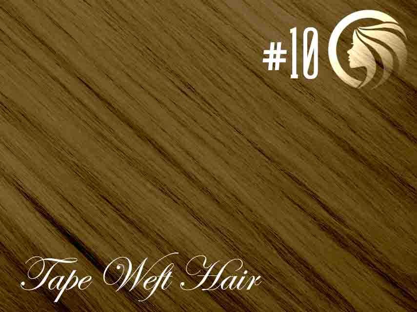 *NEW* #10 Medium Golden Brown – 22″ – 60 gram – 24 Pieces – Athena Tape Weft