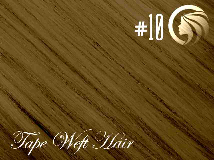 #10 Medium Golden Brown – 18″ – 60 gram – 24 Pieces – Athena Tape Hair
