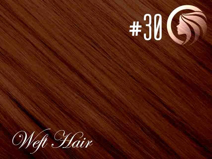 #30 Light Auburn– 18″ – 120 gram – Athena Weft