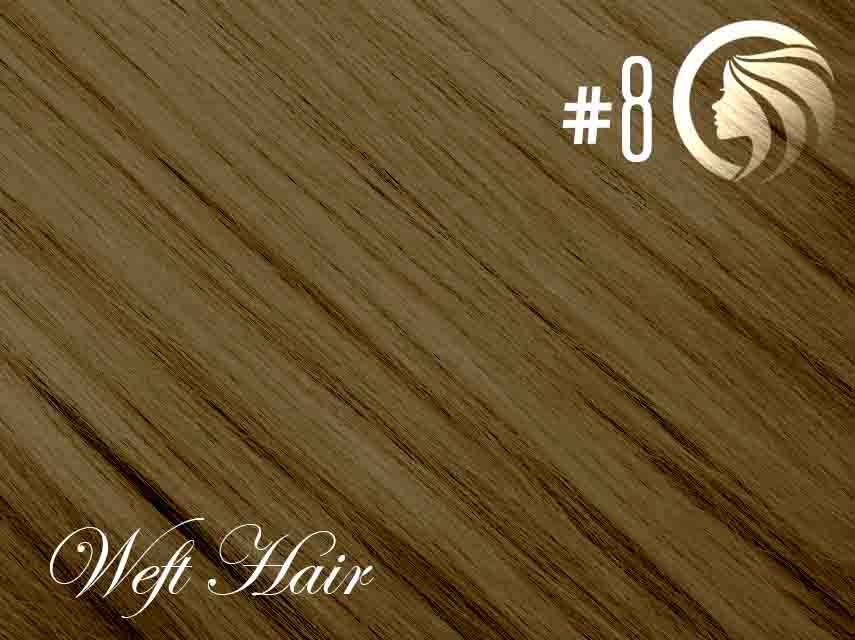 *NEW* #8 Medium Brown – 22″ – 120 gram – Athena Weft