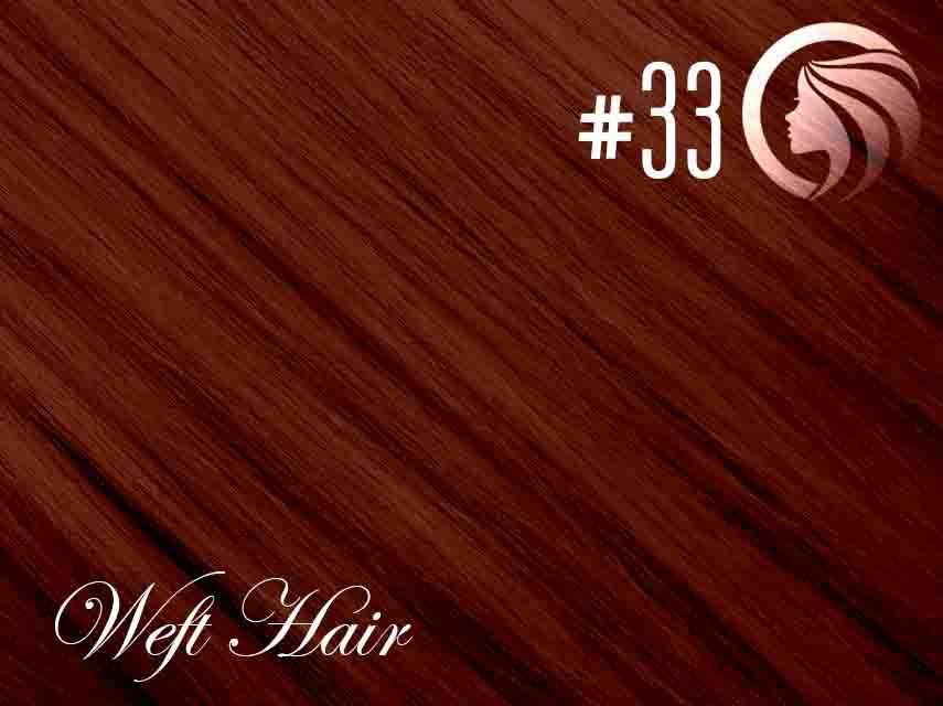 #33 Copper Red – 18″ – 120 gram – Athena Weft