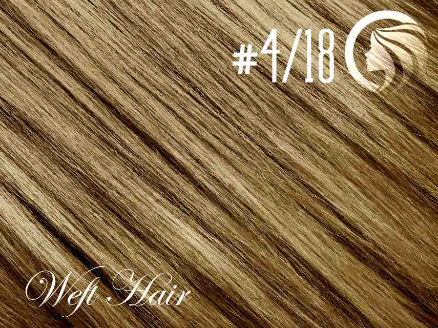#4/18 Chocolate Brown/Honey Blonde – 18″ – 120 gram – Athena Weft