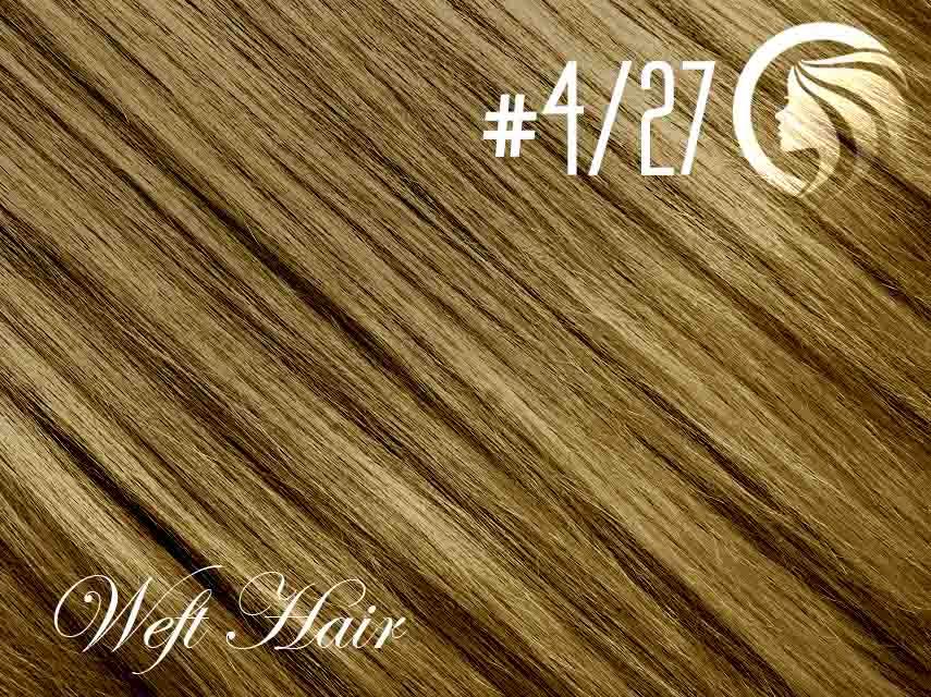 #4/27 Chocolate Brown/Strawberry Blonde – 18″ – 120 gram – Athena Weft