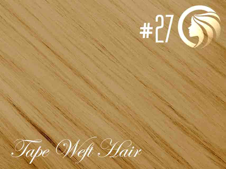 *NEW* #27 Strawberry Blonde – 22″ – 60 gram – 24 Pieces – Athena Tape Weft