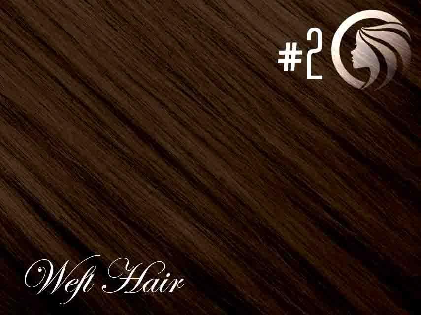 #2 Dark Brown – 22″ – 120 gram – Athena Weft