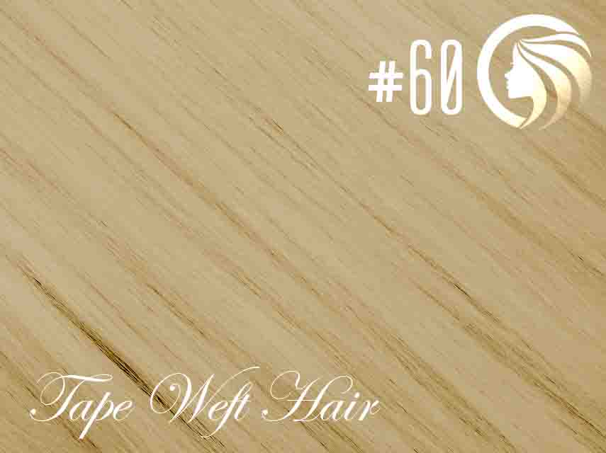 #60 Blonde – 18″ – 60 gram – 24 Pieces – Athena Tape Weft