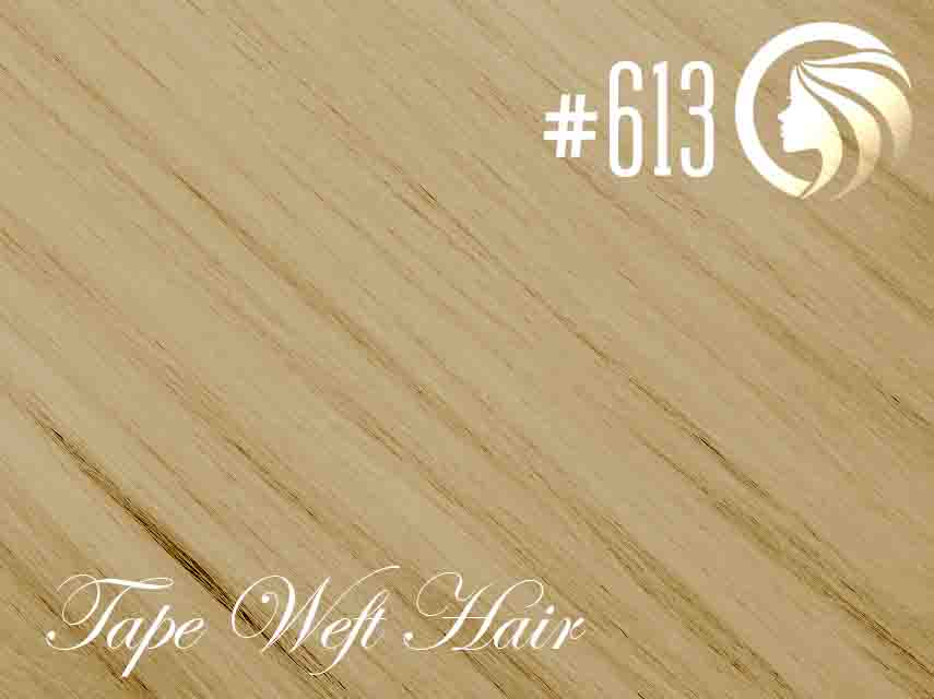#613 Blonde – 18″ – 60 gram – 24 Pieces – Athena Tape Weft