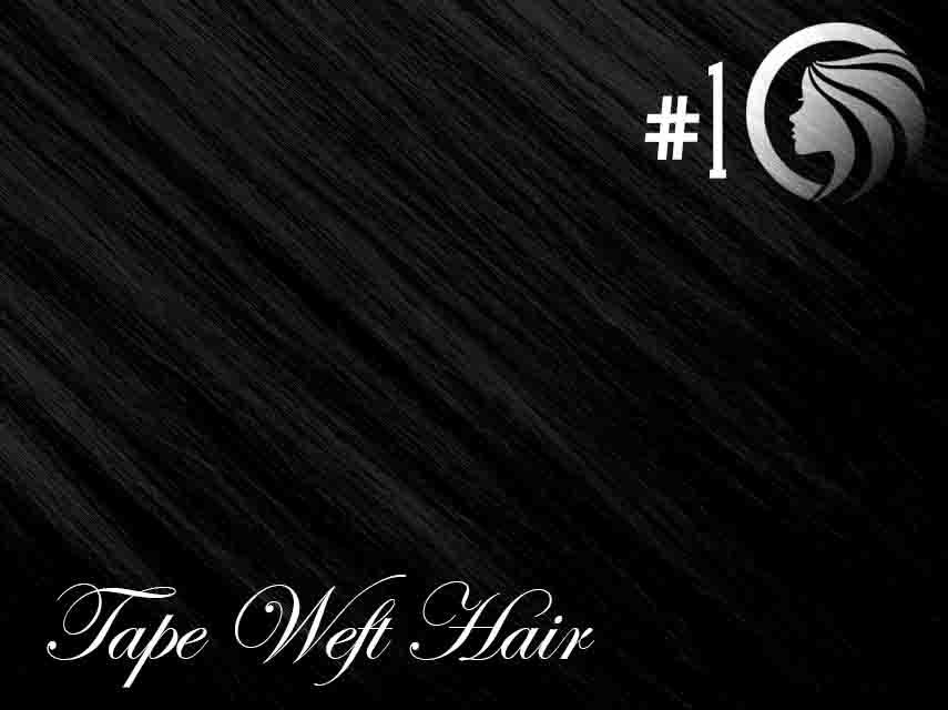 *NEW* #1 Jet Black – 22″ – 60 gram – 24 Pieces – Athena Tape Weft