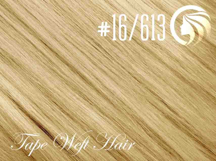 #16/613 Ash Blonde/Blonde – 18″ – 60 gram – 24 Pieces – Athena Tape Weft