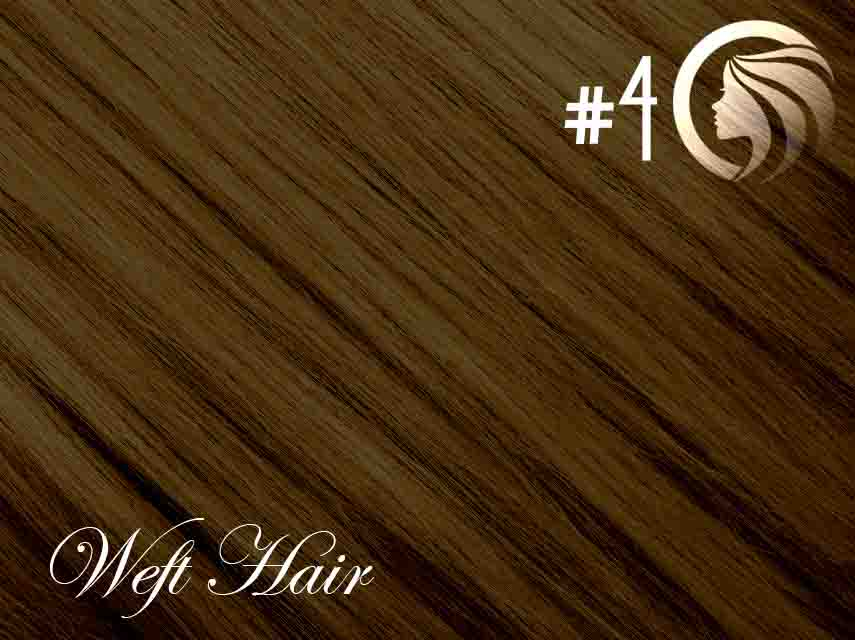 #4 Chocolate Brown – 18″ – 120 gram – Athena Weft