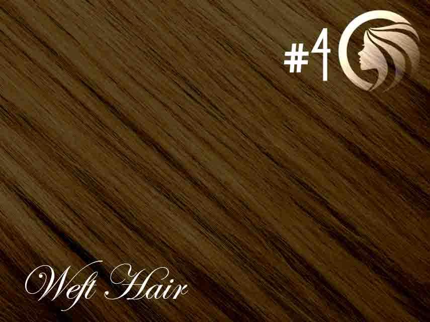 *NEW* #4 Chocolate Brown – 22″ – 120 gram – Athena Weft