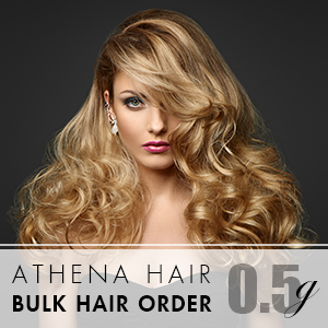 Athena 0.5g 1000 strands – Bulk Hair Order – 20 packs – 18inch (Free Consultation Pack)