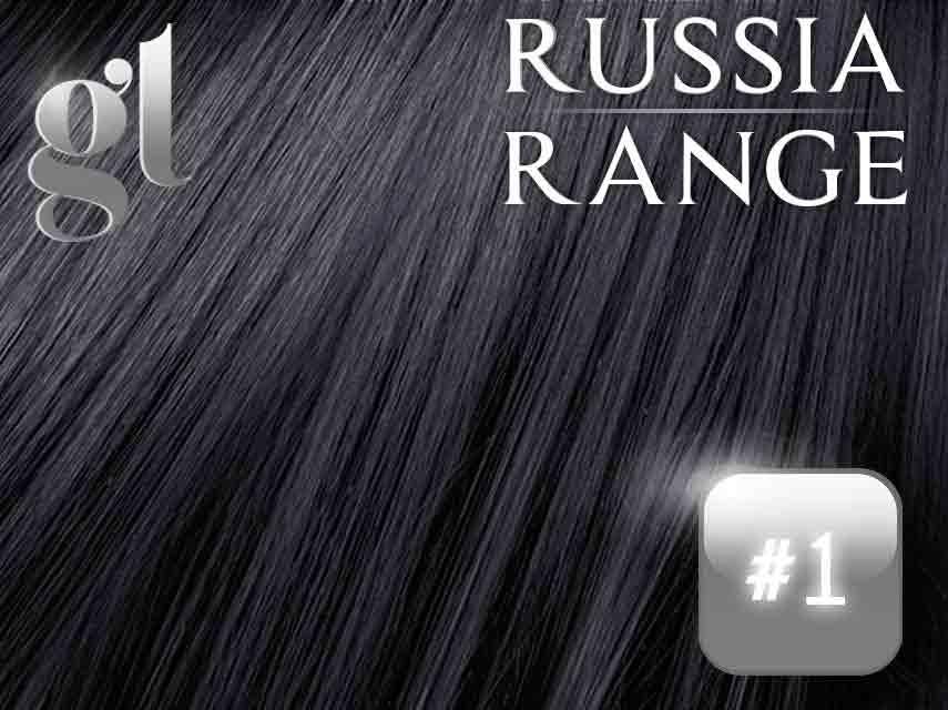 #1 Jet black – 20″ – 120grams – Weft Russia Range