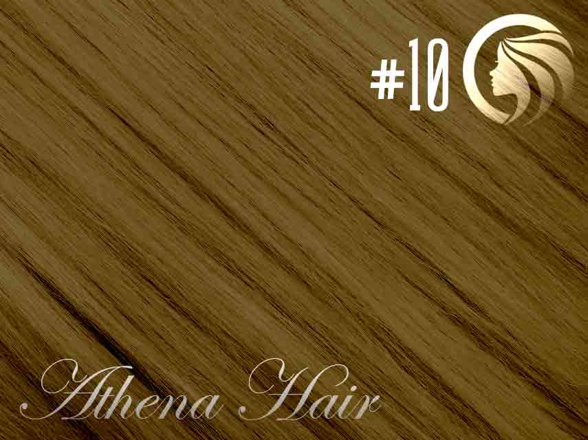 #10 Medium Golden Brown – 18″ – 1 gram – Nano Tip - Athena (25 strands per packet)
