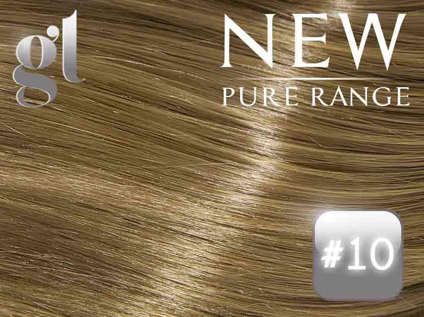 #10 Medium Golden Brown – 20″ - 0.8 gram – iTip - Pure Range (25 Strands)