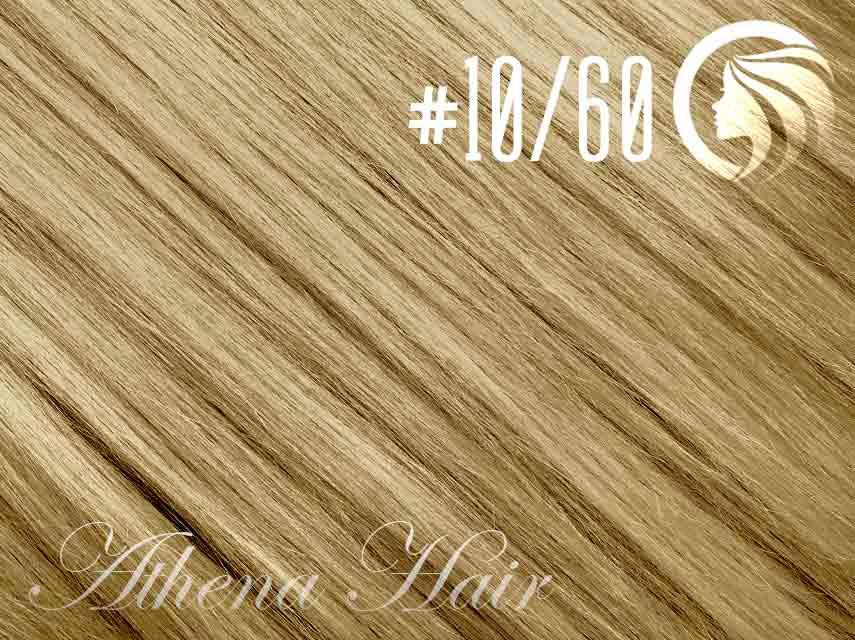 #10/60 Medium Golden Brown/Blonde – 18″ – 1 gram – Nano Tip - Athena (25 strands per packet)