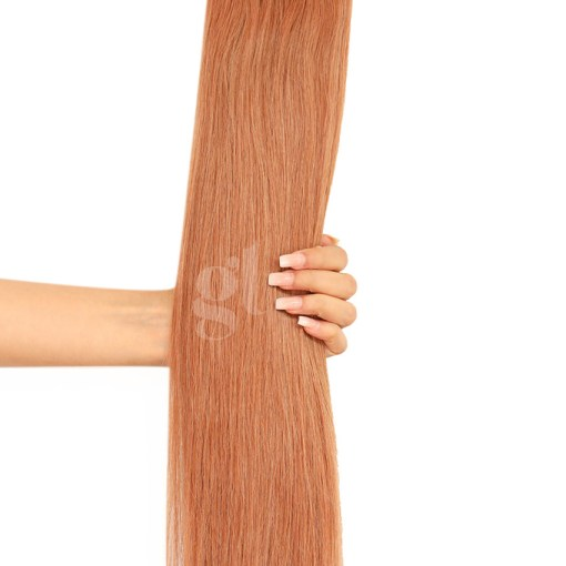 #12 Copper Blonde – 22″ – 150g – 5 Pieces – GL Seamless Remy Clip Ins
