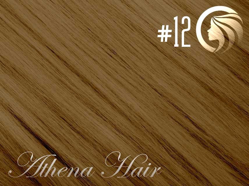 #12 Mixed Blonde/Brown  – 18″ – 1 gram – uTip – Athena (25 strands per packet)