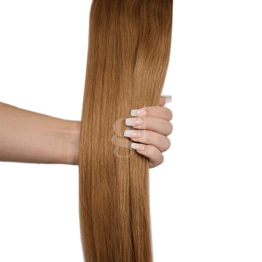#13 Light Golden Brown – 22″ – 150g – 5 Pieces – GL Seamless Remy Clip Ins