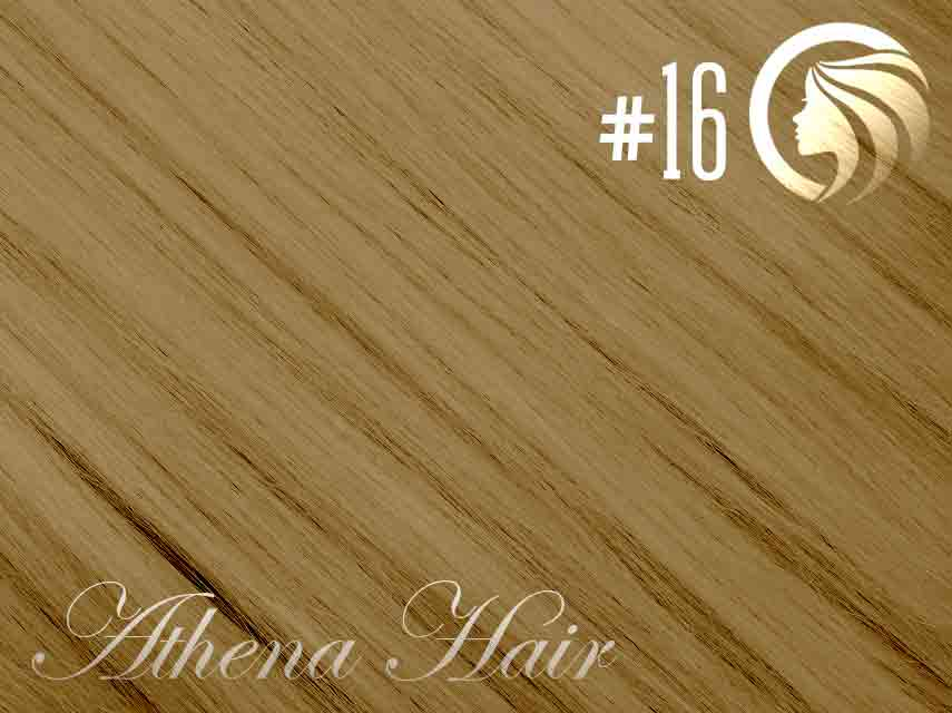 #16 Ash Blonde – 18″ – 1 gram – Nano Tip - Athena (25 strands per packet)