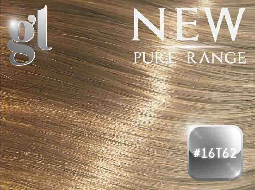 #16T62 Ash Blonde/Light Ash Blonde – 20″ - 0.8 gram – iTip - Pure Range Ombre (25 Strands)