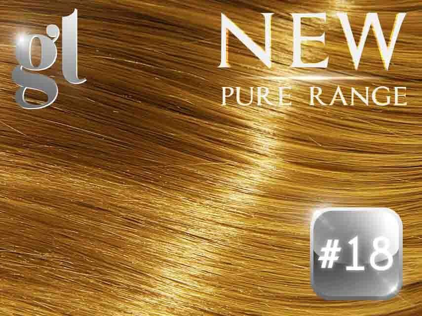 #18 Honey Blonde – 20″ - 0.8 gram – iTip - Pure Range (25 Strands)