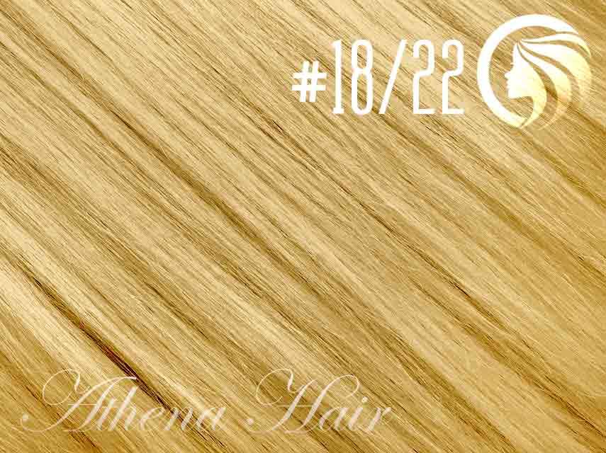 #18/22 Honey Blonde/Light Neutral Blonde – 18″ – 1 gram – Nano Tip - Athena (25 strands per packet)