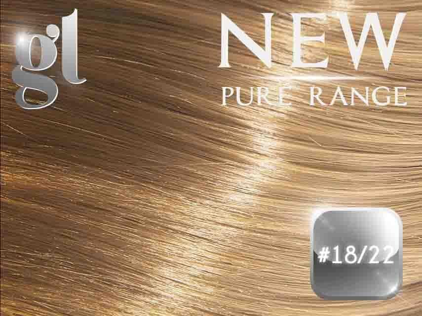 #18/22 Honey Blonde/Light Neutral Blonde – 20″ - 0.8 gram – iTip - Pure Range Highlight (25 Strands)