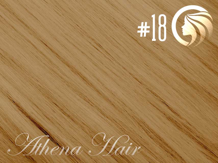 #18 Honey Blonde – 18″ – 1 gram – iTip – Athena  (25 strands per packet)