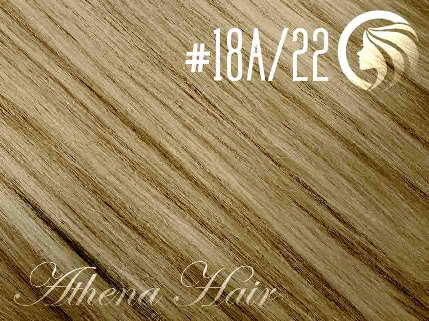 #18A/22 Ash Honey Blonde/Light Neutral Blonde – 22″ – 60 gram – 24 Pieces – Athena Tape Hair