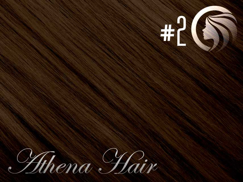 #2 Dark Brown – 18″ – 1 gram – iTip – Athena (25 strands per packet)