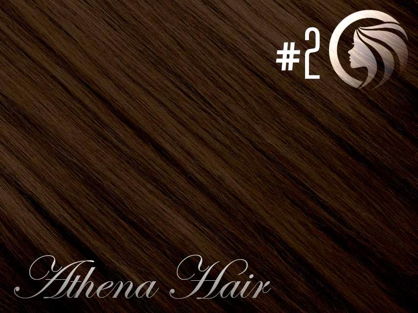 #2 Dark Brown – 18″ – 1 gram – Nano Tip - Athena (25 strands)