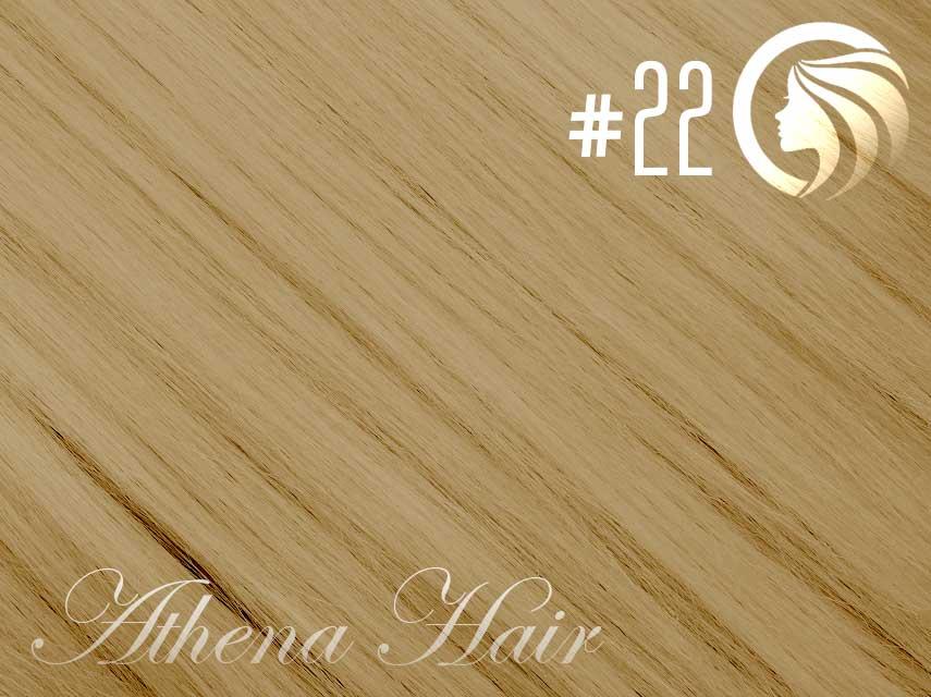 #22 Light Neutral Blonde – 18″ – 1 gram – Nano Tip - Athena Range (25 strands per packet)