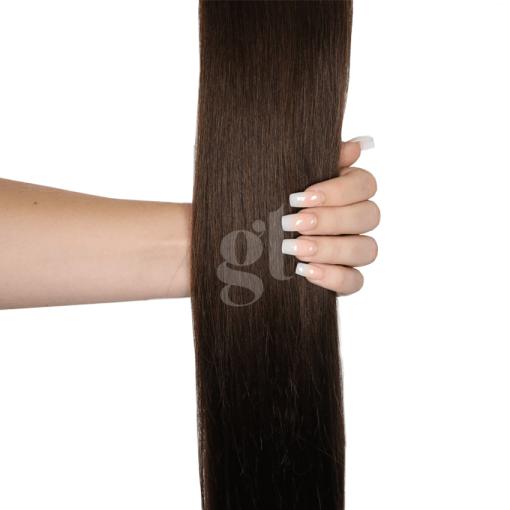 #2A Dark Ash Brown – 22″ – 150g – 5 Pieces – GL Seamless Remy Clip Ins