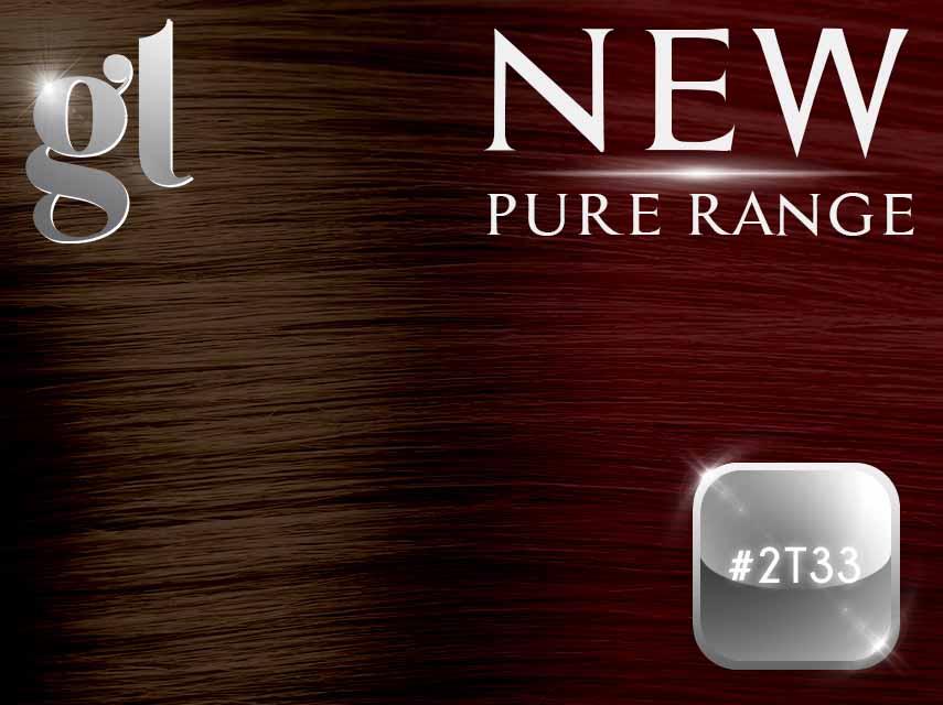 #2T33 Dark Brown/Copper Red – 20″ - 0.8 gram – iTip - Pure Range Ombre (25 Strands)