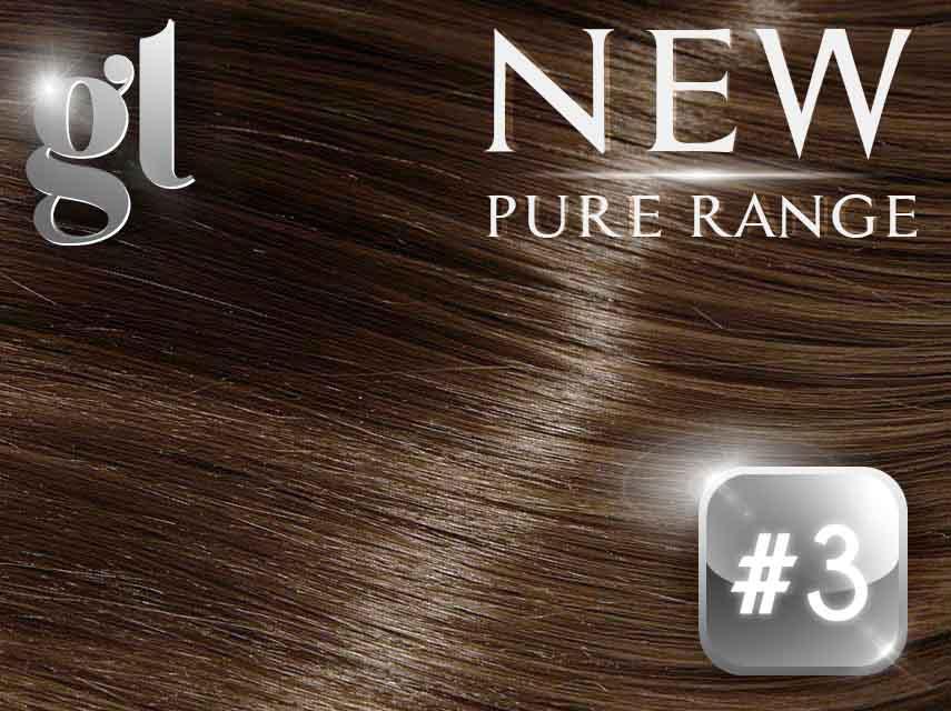 *SALE* #3 Natural Ash Brown – 20″ - 0.8 gram – iTip - Pure Range (25 Strands)