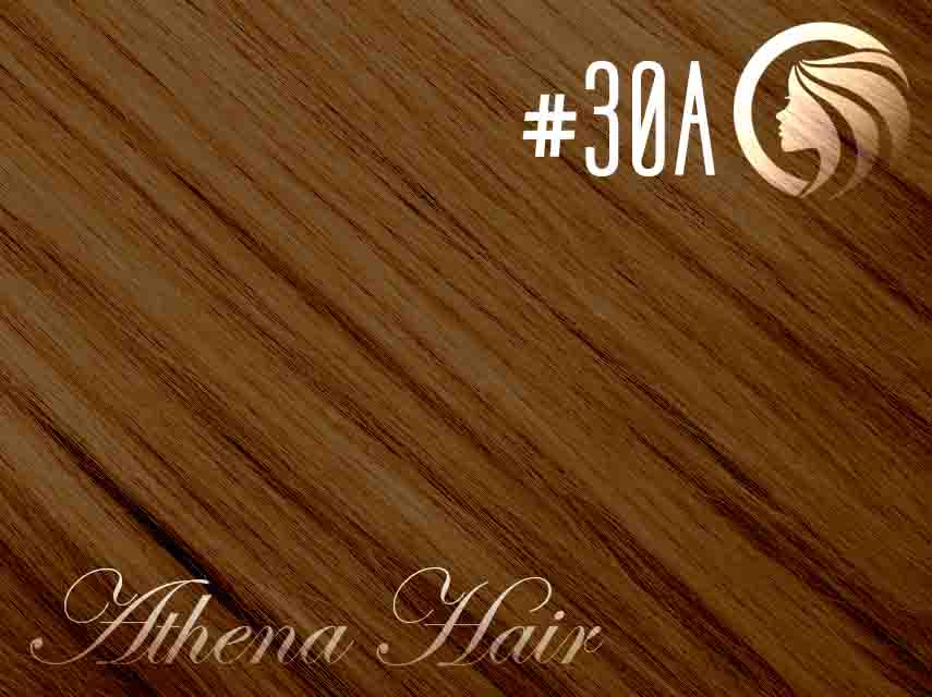 *NEW* #30A Copper Brown - 22″ – 60 gram – 24 Pieces – Athena Tape Hair