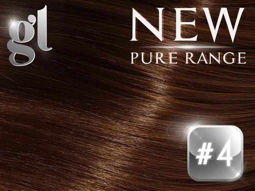 #4 Chocolate Brown – 20″ - 0.8 gram – iTip - Pure Range (25 Strands)