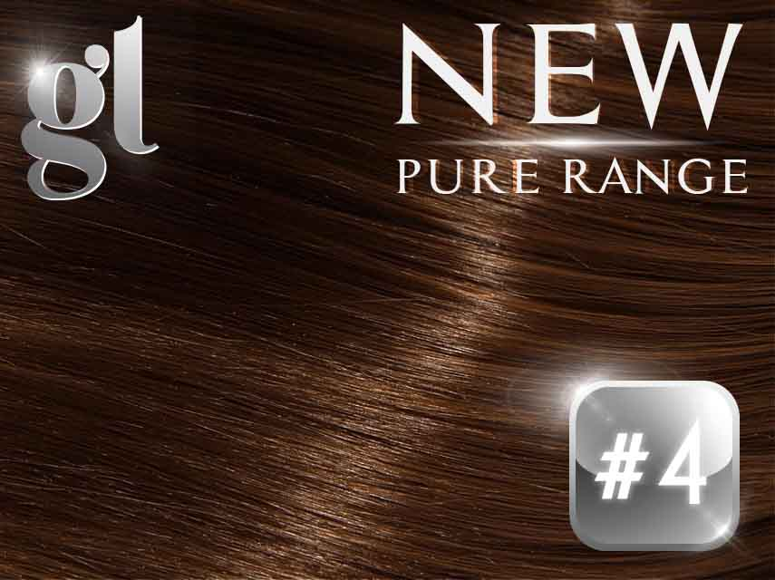#4 Chocolate Brown – 20″ – 0.8 gram – uTip – Pure Range (25 Strands)