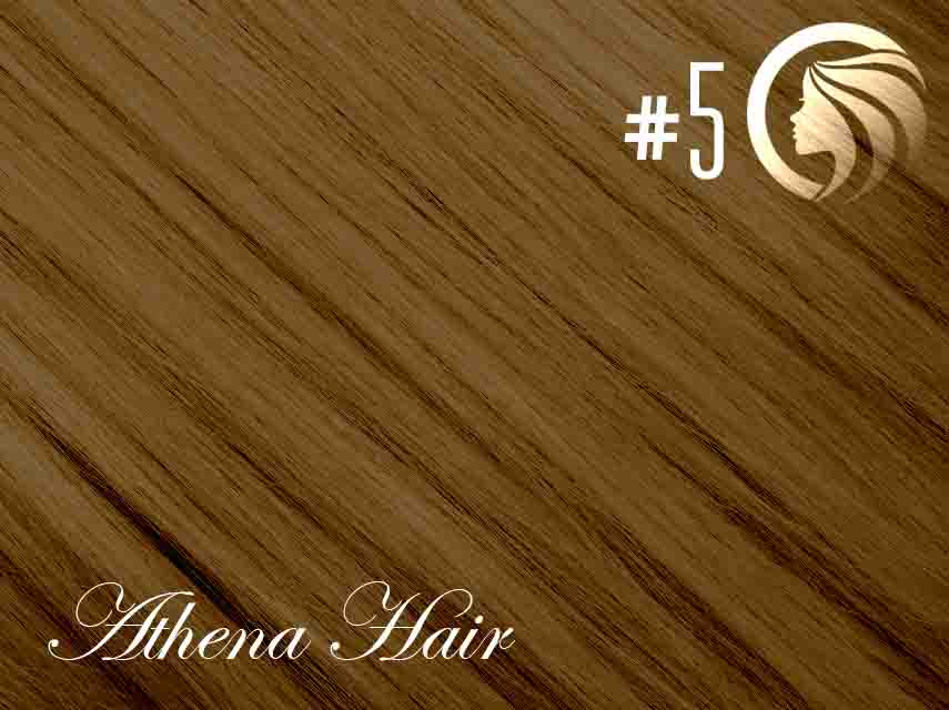 *NEW* #5 Medium Ash Brown – 18″ – 60g – 24 Pieces – Athena Tape Hair