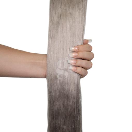 #50 Light Silver Grey – 22″ – 1g – Nano Tip – Russia Range (50 strands)