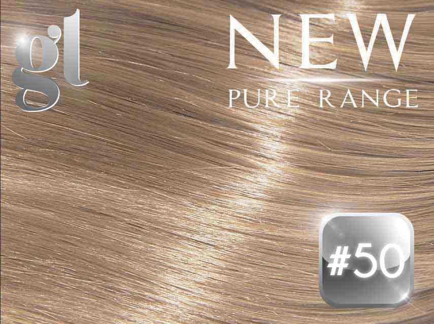 #50 Light Silver Grey – 20″ - 0.8 gram – iTip - Pure Range (25 Strands)