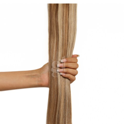 #6/24 Brown/ Golden Brown – 22″ – 150g – 5 Pieces – GL Seamless Remy Clip Ins