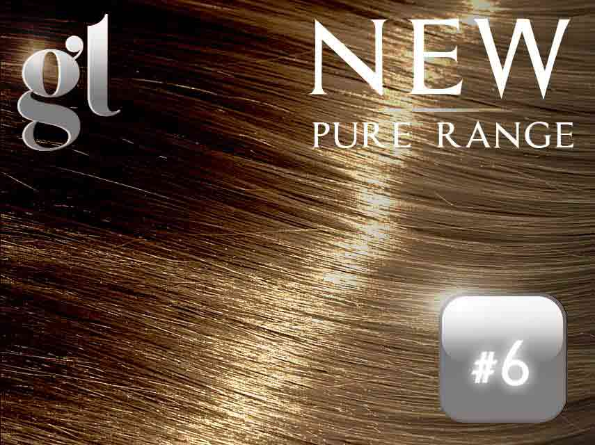 #6 Brown (NEW Nano tip) – 20″ - 0.8 gram – Pure Range (25 Strands)