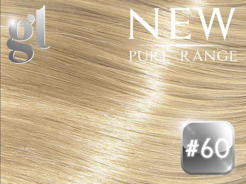 #60 Blonde - Nano tip – 20″ - 0.8 gram – Pure Range (25 Strands)