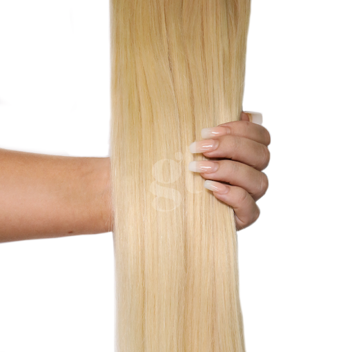 #60/613 Malibu Blonde – 22″ – 150g – 5 Pieces – GL Seamless Remy Clip Ins