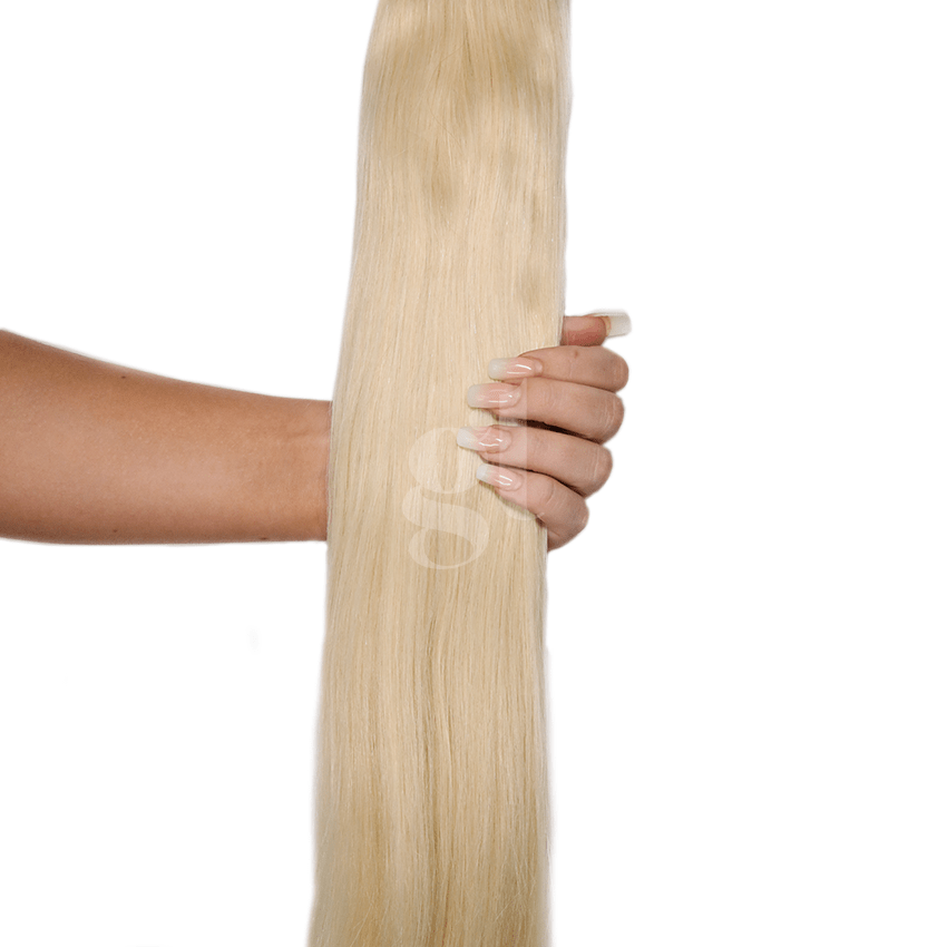 #60/62 Copper Blonde – 22″ – 150g – 5 Pieces – GL Seamless Remy Clip Ins